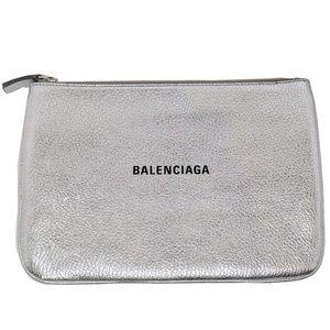 Balenciaga Silver Everyday Pouch